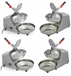 Set Of 4 Electric Snow Cone Maker Shaved Ice Crusher Shaver Machine 143 Lbs