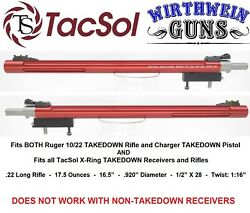 TacSol Ruger 10 22 Takedown X Ring .920quot; Red Bull Barrel Tactical Solutions $279.99