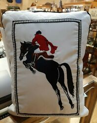 Rightside Design Hunter Jumper Equestrian Lifestyle Home Decorative Pillow New
