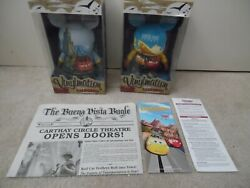 Disney Lot Cars Land And Buena Vista 9 Vinylmation Le 500 And Dca Newspaper B