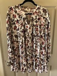 Women's Floral Print Dress ~ Size Large ~ Long Sleeves~ Umgee Brand ~ Cute! $7.50