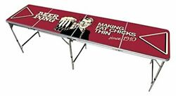 Red Cup Pong Trademark Innovations 8' Folding Beer Pong Table With Bottle Opener