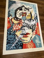 Sandra Chevrier X Shepard Fairey The Beauty Of Liberty And Equality Print Obey