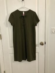 Olive Green Dress Knee Length XL No Boundries Cute! $15.00