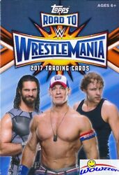 2017 Topps Wwe Road To Wrestlemania Exclusive Huge Sealed Hanger Box-42 Cards
