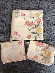 Pottery Barn Yellow Wildflowers Poppies Twin Duvet And Two Shams