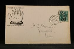 Illinois Chicago 1882 Brown And Holland Hand Illustrated Advertising Cover
