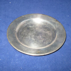 Vintage Silver Plated Mini Saucer Plate Made In Mexico Imp