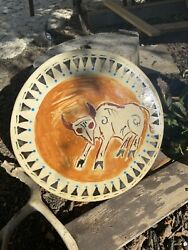 """Native American Drum 12"""" Painted Hand Drum Indian Cherokee Earth Pigment Paints"""