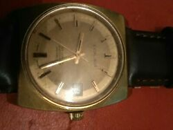 Gents Gold Plated Automatic By Excaliber Recently Serviced Ready To Wear...