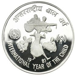 India 100 Rupees 1981 International Year Of The Child