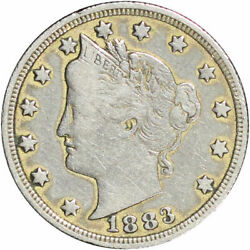 Original Racketeering Liberty Nickel Gold Plated Reeded Edge 1883 No Cents