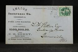 Wisconsin Green Bay 1870s Insurance Company Advertising Cover