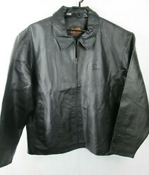 Canyon Outback Black 100 Pig Leather Coat Mens Sz Xxxl Pioneer Seed Zip Jacket