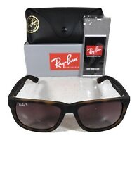 Ray Ban Justin Polarized Sunglasses Tortoise Brown Rb4165 865 T5 BRAND NEW $69.99