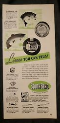 1940s Print Ad South Bend Fishing Lines Lures Rods
