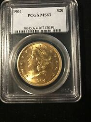 1904-s 20 Pcgs Ms63- 9045.63/16713059 Liberty Double Eagle - Gold Coin