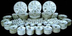 MSRP $180K Herend Hungary Rothschild 564pc Dinner Service 24 11pc Place Settings