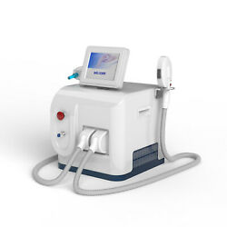 Double Handles 3 Function Permanent Laser Hair Remove Tattoo Removal Opt Ipl Yag