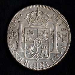 Amazing Americaand039s First Dollar Silver 8 Reales Mexico Mo Ff 1780 Au Luster
