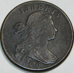 1806 Draped Bust Large Cent S-270 Beautiful Coin With A Lot Of Detail.