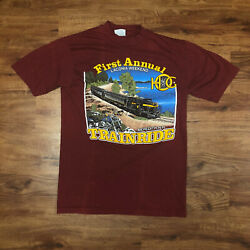 Vintage 80s Harley Davidson Laconia Weekend First Annual Train Ride Tee Size S $24.99