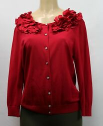 Cable & Gauge Women's Sweater Red  Size L $7.00