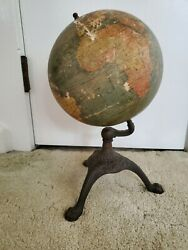 Vintage 1920and039s C.s. Hammond And Co. Antique 8 Inch New Terrestrial Globe