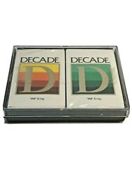 Double Deck Of Decade Cigarette Playing Cards By Stardust In Plastic Case