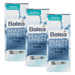 3x Balea Beauty Effect Lifting Kur 7 Ampules With Hyaluronic Acid - From Germany