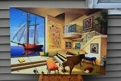 Rafael Orlando Quevedo Giclee Canvas Signed Numbered Love Boat Limited Edition