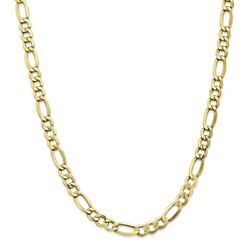Leslie's Real 10kt 7.3mm Semi-solid Figaro Chain 18 Inch