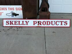 Rare Original Large Vintage Skelly Products Sign Porcelain Gas Oil Station Old