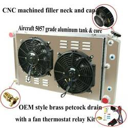 3 Row Radiator Andshroud Andfans For 1968-1987 Chevy Chevelle Impala Caprice C10 C20