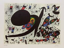 Joan Miro Homage To Joan Prats Limited Edition Colour Lithograph