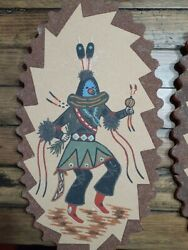 Native American Art - Sand Paintings Set - New Mexico - Western Art - Southwest