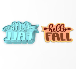 Hello Fall Cookie Cutter And Stamp | Leaves Pumpkin Spice Season Decor Autumn