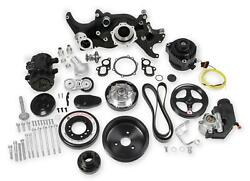 Holley Premium Black Mid-mount Complete Accessory System For Lt Engines 20-200bk