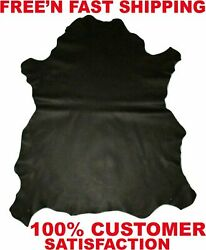 Black Brown Leather Upholstery Cow Hide Leather 7 16 sqft piece Stunning $14.99