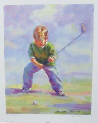 Lucelle Raad Teed Off Limited Edition Hand Signed Serigraph With C.o.a.