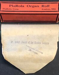 Antique Plarola Organ Harmonica Music Sheet Roll And Box Parade Of Wooden Soldiers