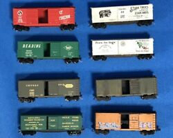 Atlas Micro N Scale Gauge Customized Weathered Freight Cars Nicely Done Lot Of 8