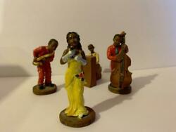 Jazz Band Figurines 4 Piece New Orleans Figures