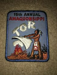 Boy Scout Bsa Amaquonsippi Illinois 15th Annual Tor Smoke Signals Trail Patch