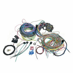21 Circuit Wiring Harness For Chev Mopar Ford Hotrods Universal Extra Long Wires