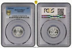 1963-m Australia Silver Sixpence Proof Coin Pcgs Pr67 1678