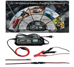 6v/12v 5000ma Eight Stage Car Battery Charger + Maintainer With Led Display