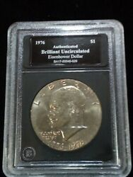 1776-1976 Eisenhower Silver Dollar With The Liberty Bell On The Reverse