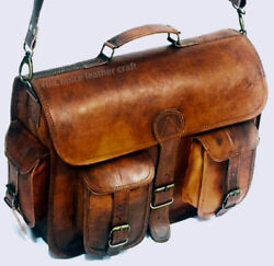 New Genuine Leather Messenger Laptop Satchel Briefcase Shoulder bag For Men#x27;s $64.17