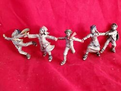 Hudson Pewter Winter Villagers Andldquocrack The Whipandrdquo 5 Skaters Jl